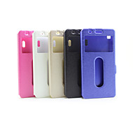 Window Flip Case  Silk Printing Simple Pu Mobile Phone Shell for Lenovo S90T Assorted Colors