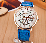 Women's Temperament PU Leather With Diamond Dial Watches