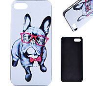 Glasses Dog Pattern PC Material Cell Phone Case for iPhone 5C
