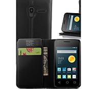 litchi alrededor enfrentamiento abierto teléfono funda adecuada para Alcatel pixi 3 (3,5) 4009e ot (color clasificado)
