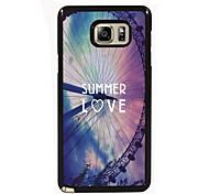 zomer liefde ontwerp slanke metalen achterkant van de behuizing voor Samsung Galaxy Note 3 / noot 4 / note 5 / note 5 rand