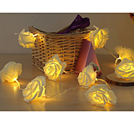 20-LED 2M Rose Shape Color Night Light Lamp String 2A Battery Christmas Holiday Wedding Decoration