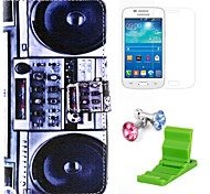 Radio Pattern PU Leather Case with Screen Protector and Stand and Dust Plug for Samsung Galaxy Grand Prime G530