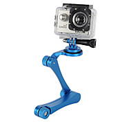 Aluminum Alloy Handheld Folding Selfie Camera Monopod Holder + Tripod Adapter Mount for Gopro (Assorted Colors)