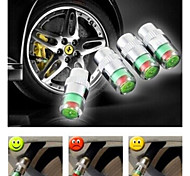 Car Tyre Valve Stem Caps with Pressure Indicator Monitor Sensor Alert bike 4pcs