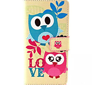 Owl Pattern PU Leather Phone Case For Sony M4