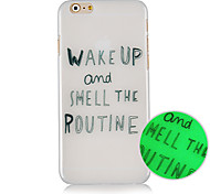 Wake UP Pattern Luminous Back Case Cover for iphone5C