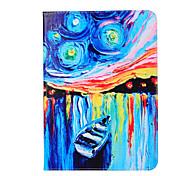 PU-Leder Malerei Schiff über offene Holster mit Pattsituation für Galaxy Tab s2 8,0 t 715 / Galaxy Tab s29.7 t815