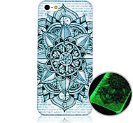 Blue and White Pattern Luminous Phone Case Back Cover Case for iPhone5C