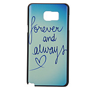 Letter Pattern PC Material Phone Case for Samsung Galaxy Note 5