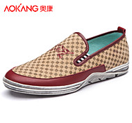 Aokang Men's Shoes Outdoor/Office & Career/Casual Fabric Loafers Black/Blue/Burgundy