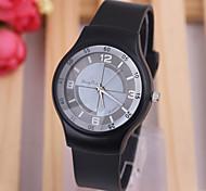 nova moda pulseira de silicone com ligação simples relógio de senhoras senhoras da forma relógio de quartzo