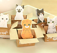 Carton Animal Toy Self-stick Notes(3 PCS Random Color)