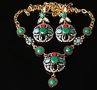 Z&X® Vintage High End Alloy Jewelry Set Party/Casual 1set