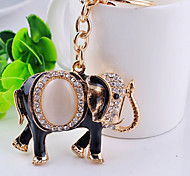 Elephant  Stainless Steel A Diamond Useful Key Ring