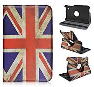 7 pollici modello della bandiera nazionale di alta qualità di rotazione caso del leathe pu 360 gradi per Samsung P3100 Galaxy Tab