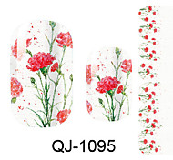 Beautiful Flower Fairy Peony Nail Art Stickers