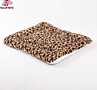 FUN OF PETS® Leopard Soft  Fleece Pets Bed for Pets Dogs and Cats 55x45cm
