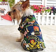 Dog Denim Jacket/Jeans Jacket Blue Dog Clothes Winter / Spring/Fall Jeans Fashion