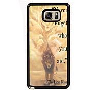 Never Forger Who You Are Design Slim Metal Back Case for Samsung Galaxy Note 3/Note 4/Note 5/Note 5 edge