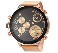 JUBAOLI® Men's Military Design Fashion Rose Gold Steel Band Quartz Wrist Watch Cool Watch Unique Watch
