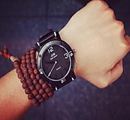 hombres reloj unisex de línea tres grandes reloj de pulsera estudiantes significativas