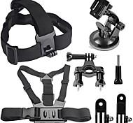 4 en 1 kit de accesorios de la cámara de deportes para GoPro héroe 4/3 + / 3/2/1 sj4000 / sj5000 / sj6000 / Xiaomi yi