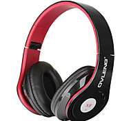 Ovleng X8 Fashion Foldable Headphones w/ Mic for Smart Phone / iPod / Computer - Black + Red