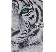 patrón de tigre blanco pu funda de piel de todo el cuerpo con la tarjeta para la lengüeta samsung s 8,4 t700 / t800 t805c pestaña s 10,5 /