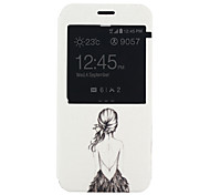 Back Female Pattern PU Material Full Package Phone Case for Samsung Galaxy A8