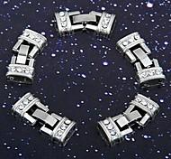 5pcs Watch Band strass braccialetto chiusura deployante 0.47