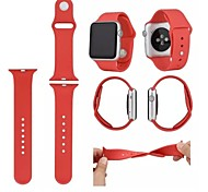 Silicone 3-root Materia Original 1:1 Wearables Straps 42mm Watch Band with Package for Apple Watch (Assorted Colors)