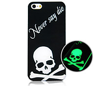 Skull Pattern Luminous Phone Case Back Cover Case for iPhone5C