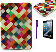 Colorful Lattice Pattern TPU Soft Back Cover Case for iPad Mini 3/iPad Mini 2/iPad Mini