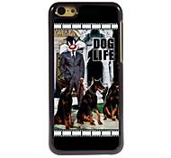 diseño de aluminio vida perro caso de la alta calidad para el iphone 5c