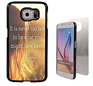 It is Never too Late Design Aluminum High Quality Case for Samsung Galaxy S6 SM-G920F