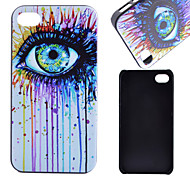 Eye Pattern PC Material Phone Case for iPhone 4/4S