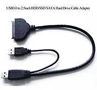 USB3.0 to 2.5inch SATA Hard Drive Cable Adapter for SATA3.0 SSD&HDD SATA  6Gb Hard Disk Drive Adapter