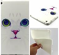 White Cat Pattern Soft TUP Case for iPad mini 3, iPad mini 2, iPad mini