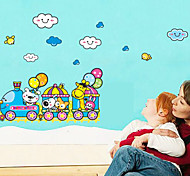 Multifunction DIY PVC Train and Animals Decorative Stickers