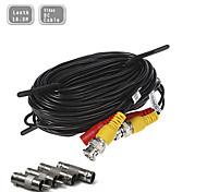 60 pés (18,3 m) cabo de extensão de alimentação de vídeo da câmera de vigilância CCTV Segurança pré-fabricados all-in-one bnc rca cabo