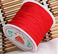 40m Long Red Nylon Rattail Chinese Knot Cord Thread 1mm HOT