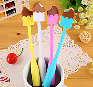 Ice Cream Shaped Flexible Blue Ink Ballpoint Pen(Random Color)