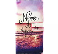 Ocean Pattern PU Leather Phone Case For Sony M4