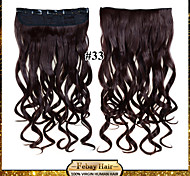 24inch 60cm 120G color 33# Clip in On Hair Extensions Wavy Clip On Hairpieces