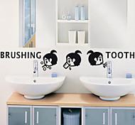 multifunções pvc forma lavagem menina adesivos decorativos