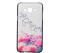 flower pattern pc cas matériau de téléphone pour Samsung Galaxy J5 J7