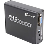 oTime OT-337A MHL+HDMI to VGA Scaler BOX-Black
