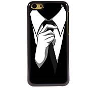 le cas design en aluminium de cravate de haute qualité pour iPhone 5c
