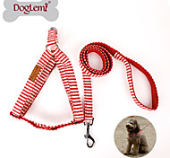 Nature Canvas Stripe Design Pet Harness Set Dog Puppy Cat Step in Harness for Dog